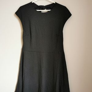 Gap BNWT Black Polka Dot Open Back Dress